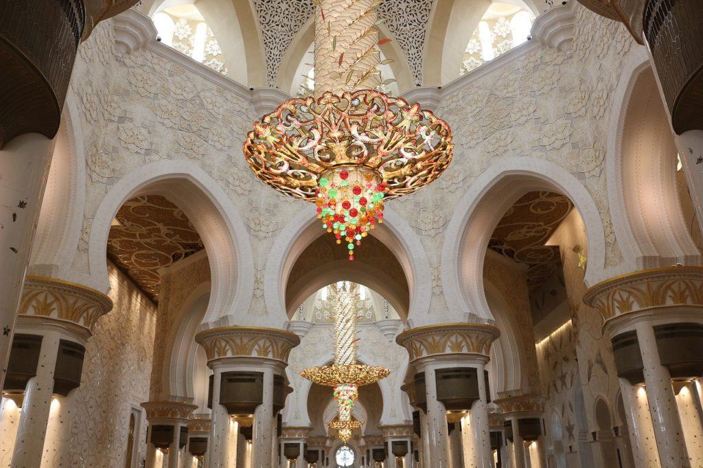 Swarovski w meczecie w Abu Zabi