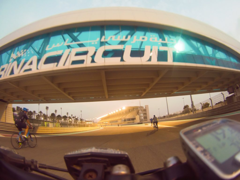 Yas Marina Circuit by bike