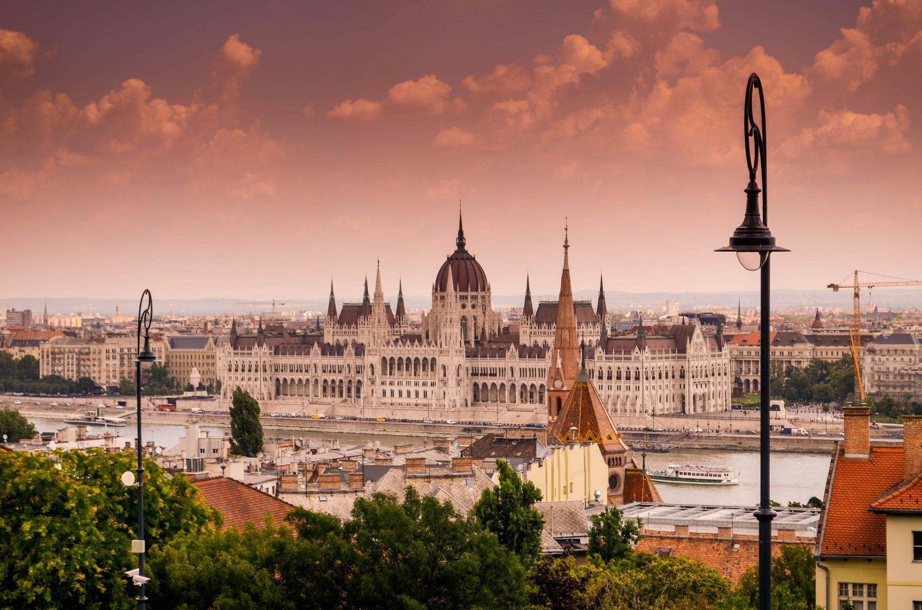 Budapeszt Węgry w sierpniu