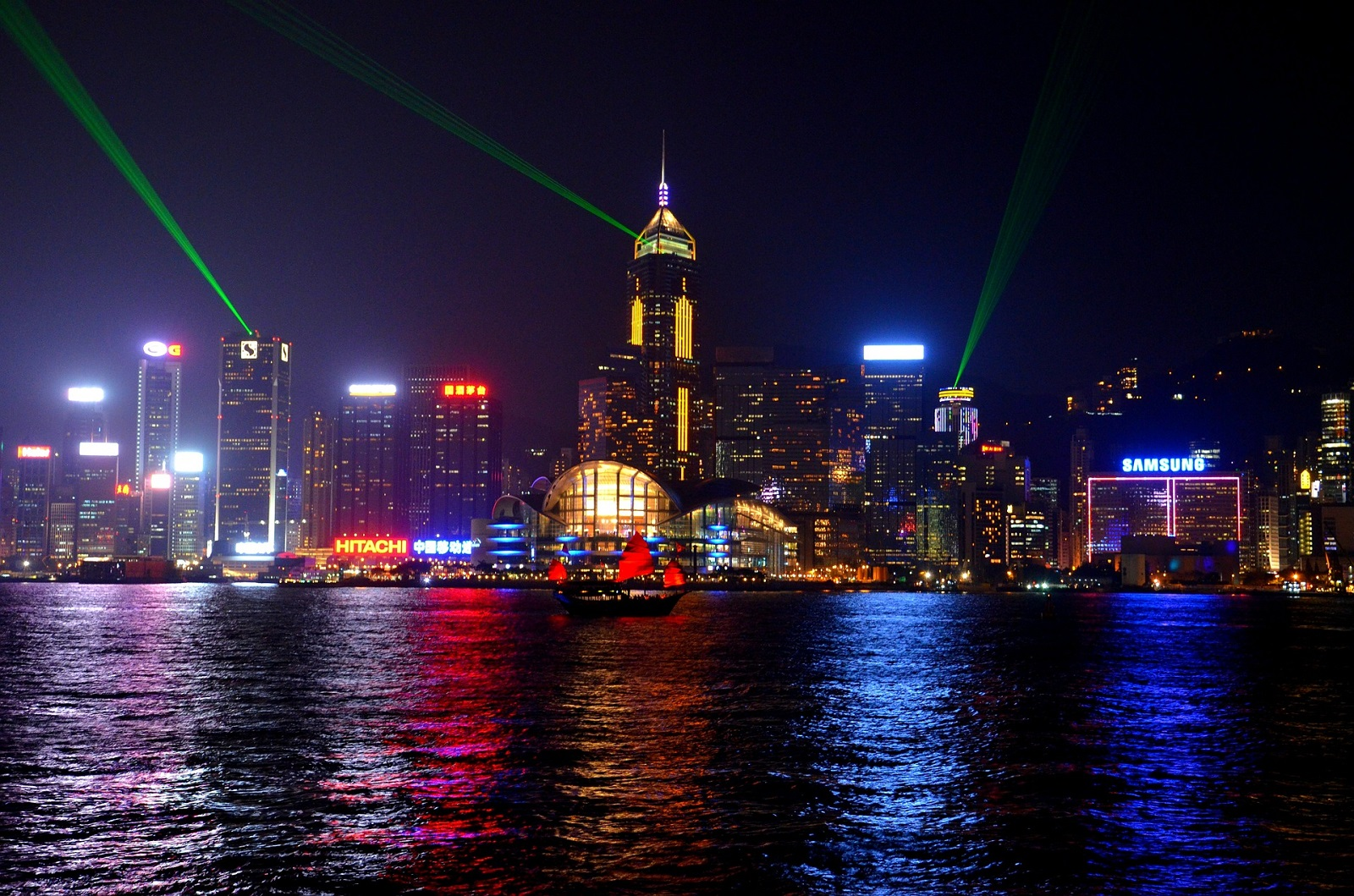 Pokaz świateł - Hongkong co zobaczyć