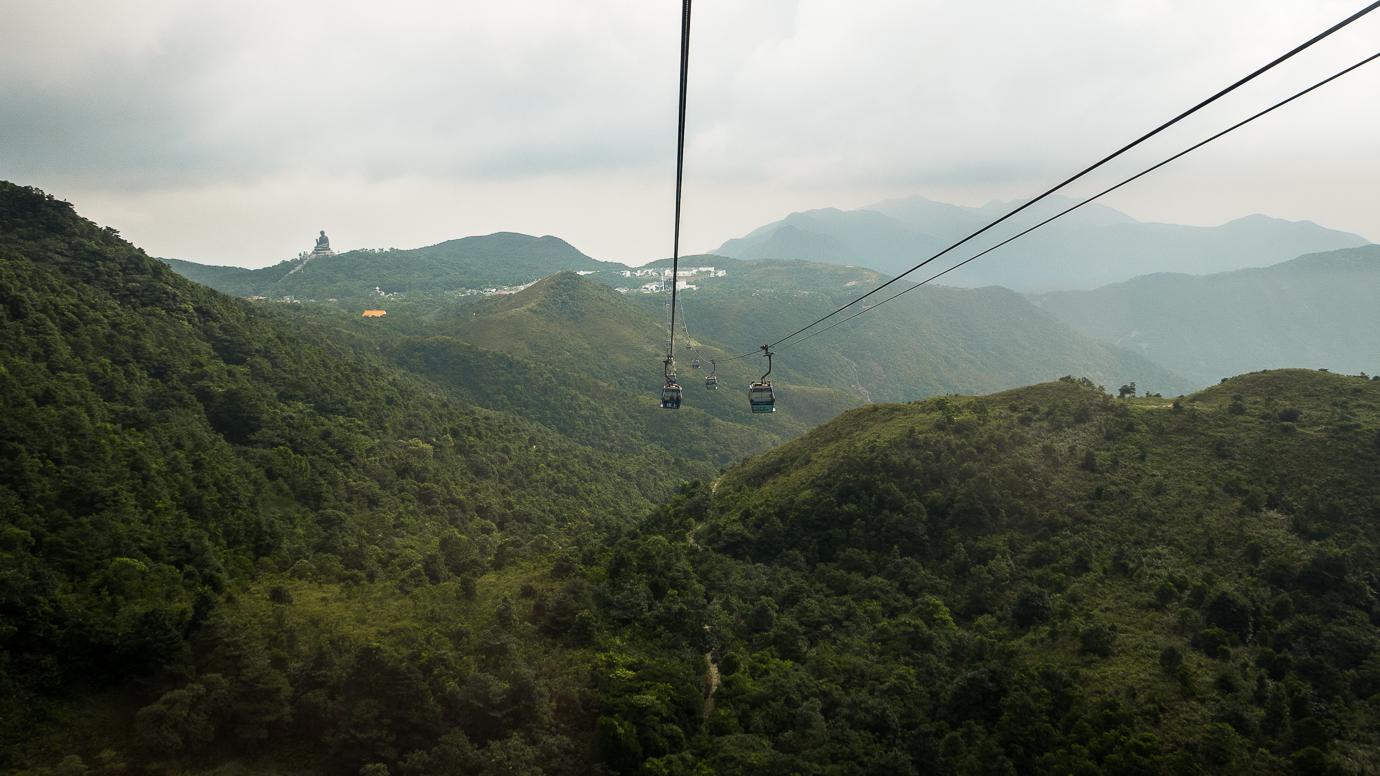 Kolejka linowa Wielki Budda w Hongkongu