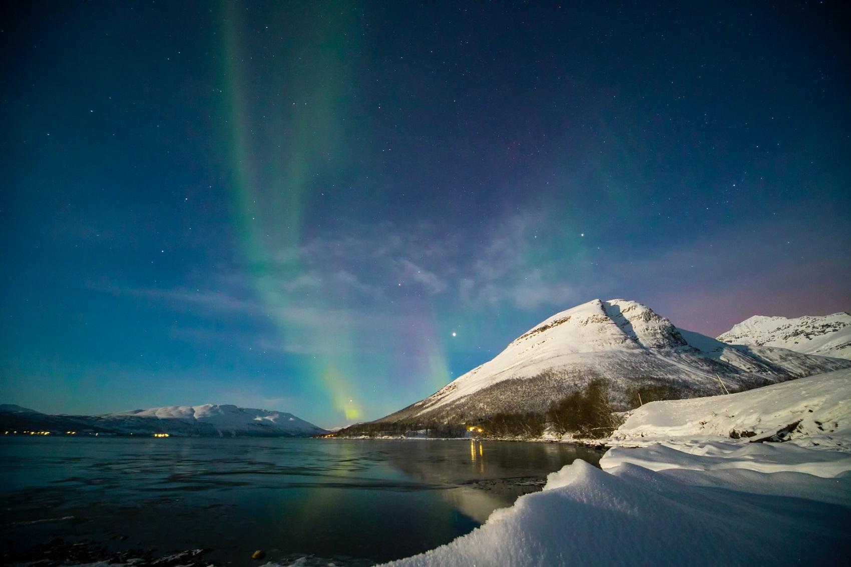 Norwegia w styczniu - zorza polarna