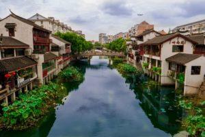 Qibao wodne miasteczko w Szanghaju