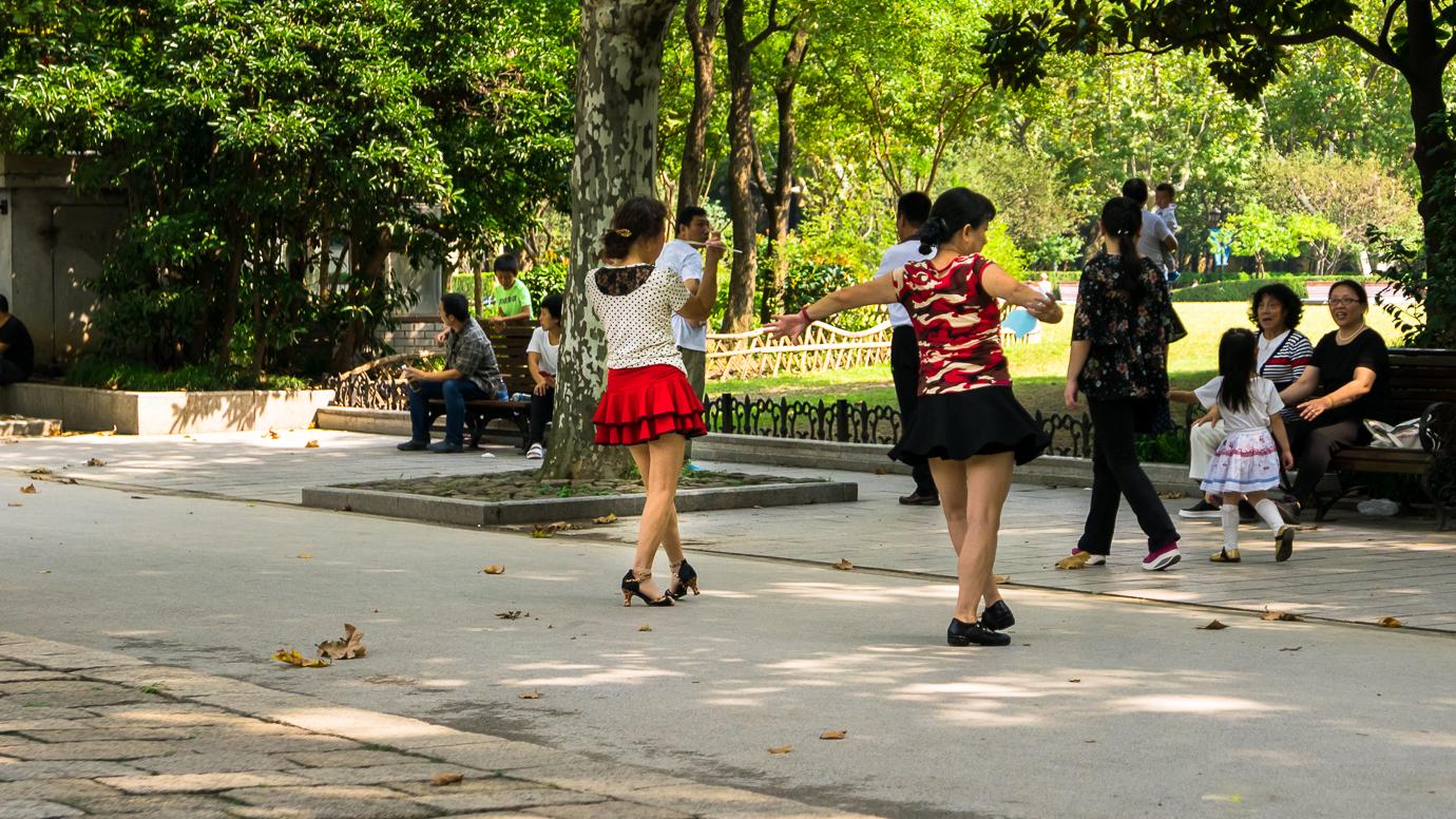 Dancing in Fuxing Park - Shanghai