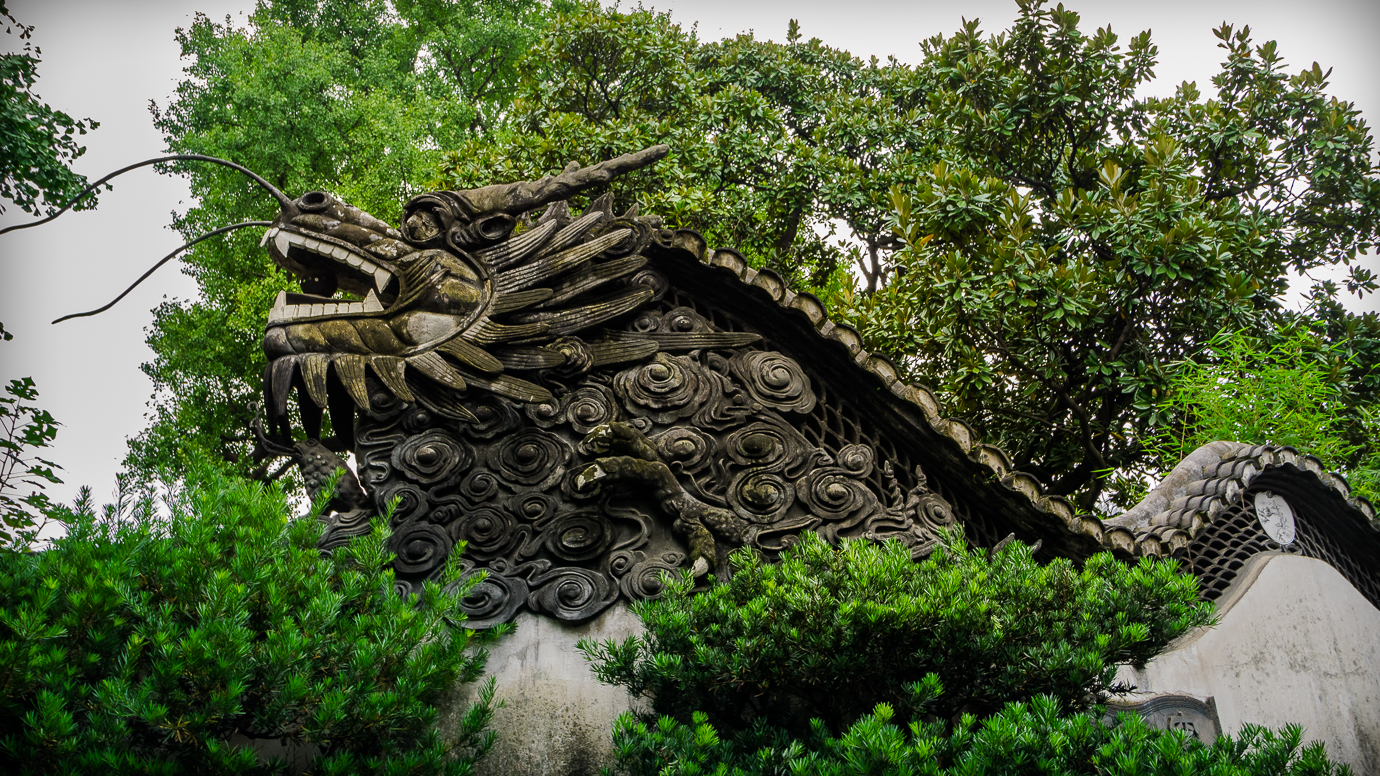 Dragons in Yu Yuan Garden