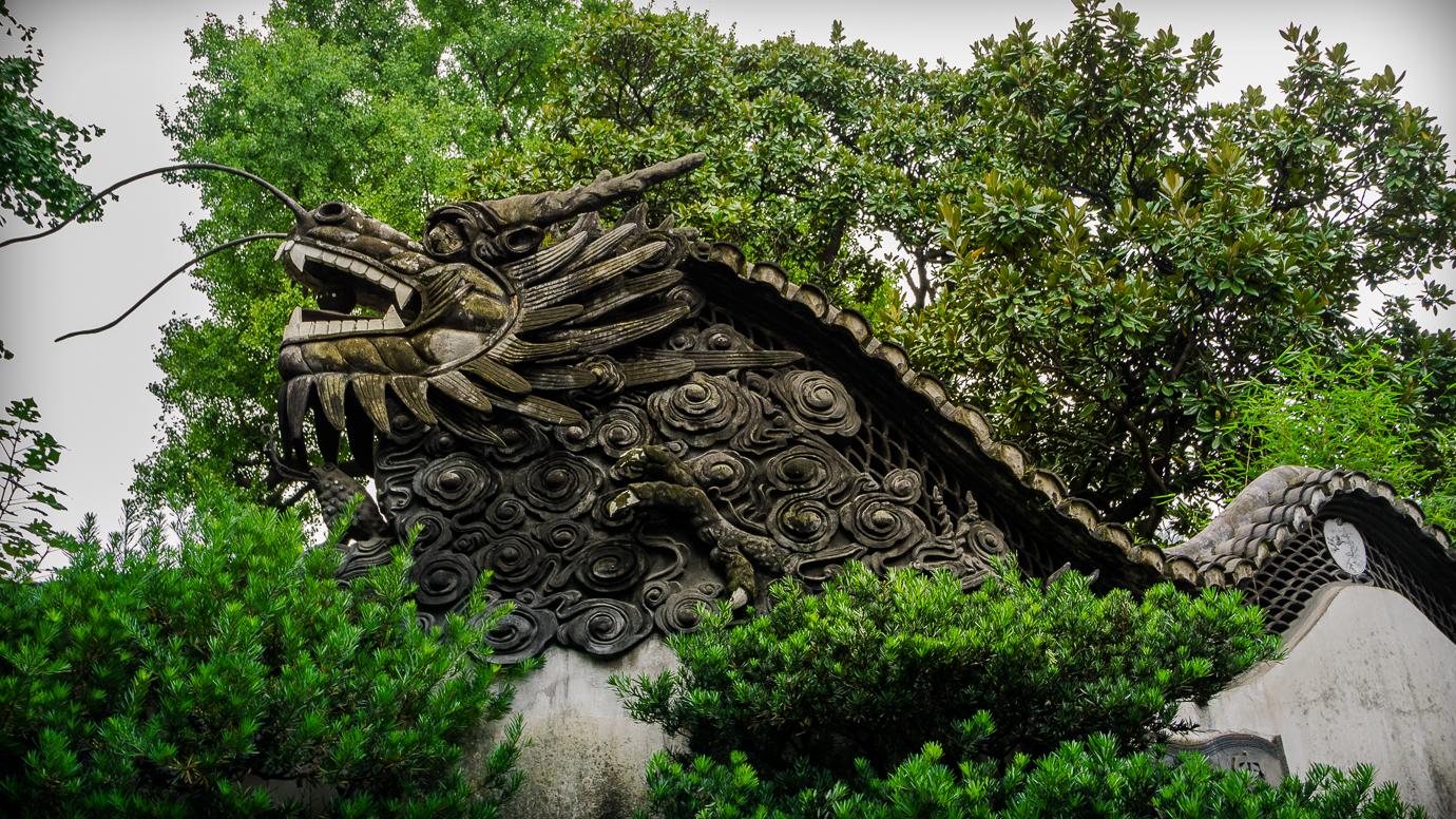 Dragons in Yu Yuan Garden